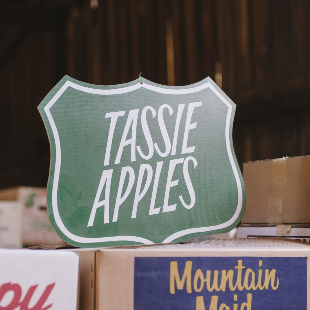 A historic apple sign found in the apple museum the Willie Smith's Apple Shed in Huon Valley, Tasmania, Australia, only 30 minutes drive from Hobart